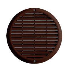 Grille ventilation aluminium anti-choc - Ronde - Ø180mm - Marron