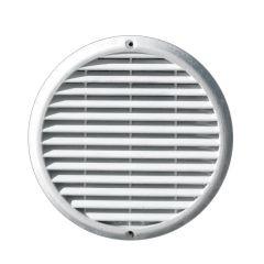 Grille ventilation aluminium anti-choc - Ronde - Ø180mm - Blanc