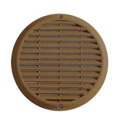 Grille ventilation aluminium anti-choc - Ronde - Ø180mm - Bronze