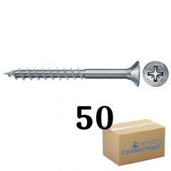 Boîte de 50 Vis Power-Fast FPF-II-CTP Ø4,5x45, tête fraisée TX, filetage partiel - Fischer