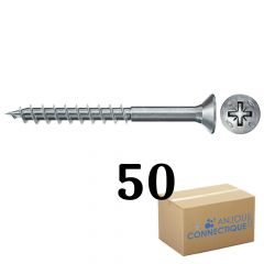 Boîte de 50 Vis Power-Fast FPF-II-CTP Ø4,0x60, tête fraisée TX, filetage partiel - Fischer