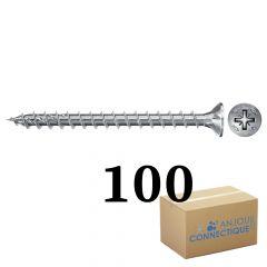100 Vis VBA zingué blanc Power-Fast TX30 Ø6x60mm