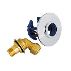 FIXOPLAC Robinet WC - PER Ø12 coudé à compression - Somatherm