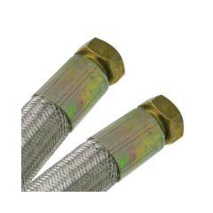 """Flexible chauffage Galva Øintér.13mm - Femelle/Femelle 1/2"""" (15x21) - 1000mm"""