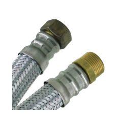 """Flexible chauffage Inox Øintér.25mm- Femelle/Mâle (26/34) 1"""" - 700mm"""