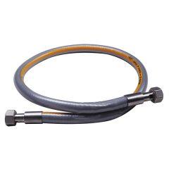 """Flexible inox haute pression 1,5m NF - écrou G 1/2"""" - max 2 bar"""