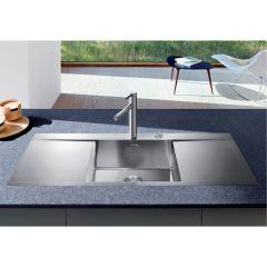 Évier de cuisine en Inox Blanco Flow 5 S-IF - inox satiné - L 1160 x l 510 x P 190 mm - sous-meuble 50 cm - Blanco