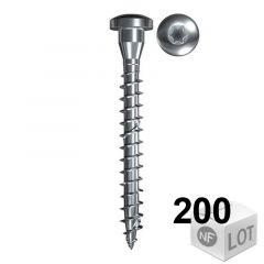 200 Vis VBA Power-Fast pour connecteur métallique TX20 Ø5x40 ou Ø5x50  - Filetage Total - Fischer