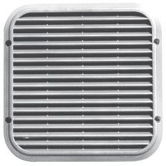 Grille ventilation aluminium naturel anti-choc - Carrée - 220x220mm