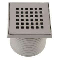 Grille carrée 110x110 mm + support pour Isotanche Classique Ø50