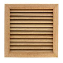 Grille ventilation carrée en bois 172x172mm, trou 160x160mm, à encastrer