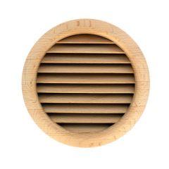 Grille ventilation ronde bois Ø extérieur 130mm - Ø trou 125mm - à encastrer