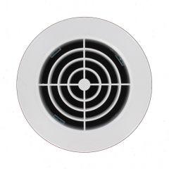 Grille d'aération ronde blanche - à encastrer