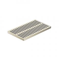Grille légère - 400x500 mm - Sable - First Plast