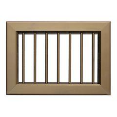 Grille ventilation 220x150mm - Bronze - Ailettes avec rideau (ouverture & fermeture)