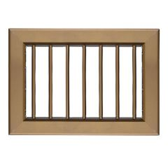 Grille ventilation 220x150mm - Bronze - Ailettes sans rideau (Fixe)