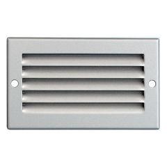 Grille ventilation métal 100x60mm avec moustiquaire - Couleur aluminium
