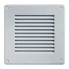 Grille ventilation métal 140x140mm - Couleur aluminium