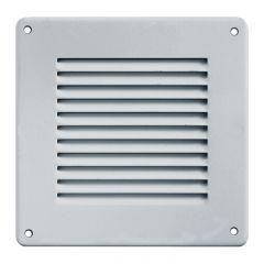 Grille ventilation métal 140x140mm avec moustiquaire - Couleur inox