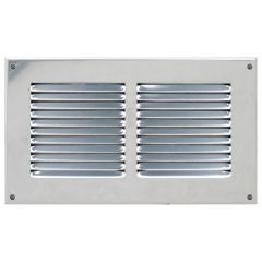 Grille ventilation métal 240x140mm - Couleur inox