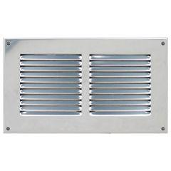 Grille ventilation métal 240x140mm avec moustiquaire - Couleur inox