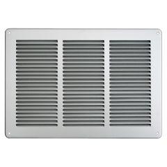 Grille ventilation métal 340x240mm avec moustiquaire - Couleur inox