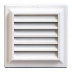 Grille ventilation PVC traditionnelle 140x140mm - Pose en applique