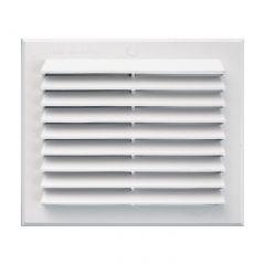 Grille ventilation rectangulaire PVC blanc à clipser