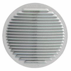 Grille ventilation ronde à clipser avec ressorts Ø230mm Alu-Zinc - Avec moustiquaire
