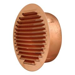 Grille ventilation ronde à encastrer Cuivre Ø110mm - Ø tube 95mm