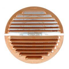 Grille ventilation cuivre à clipser IN OUT - Ronde - Ø150mm - Ø trou de 100 à140mm