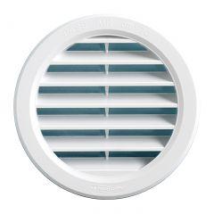 Grille ventilation ronde PVC blanc - A encastrer