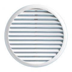 Grille ventilation ronde PVC blanc avec ressorts