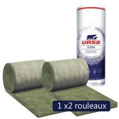 Un paquet de 2 rouleaux laine de verre URSA Façade 32 R - Ep. 80mm - 6,48m² - R 2.50