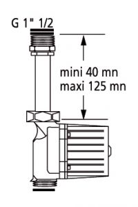 """Kit """"RAPID'SERVICE"""" télescopique pour circulateur 1-1/2"""" (40/49) - Thermador"""