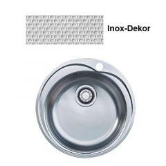 Cuve ronde Inox-DEKOR ROX/ROL610-51- Ø 510 mm - Sous meuble 60 cm - Franke