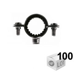 100 Colliers de fixation Atlas simple isophonique - Ø12 ou Ø14 ou Ø16 ou Ø18 ou Ø20 ou Ø22 - Fischer