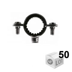 50 Colliers de fixation Atlas simple isophonique - Ø26 ou Ø28 ou Ø32 - Fischer