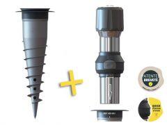 Kit adaptateur de fixation de mât + base d'ancrage GARD&ROCK