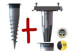 Kit Pied pour parasol déporté + base d'ancrage GARD&ROCK
