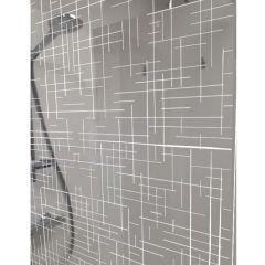 Paroi de douche ouverte Baleares Reflecto White - 1980x1400mm - verre Timeless 8mm - verre Timeless 8mm - Saint-Gobain Verrerie Aurys
