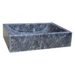 Lavabo à poser en pierre noir marbré L40 x P30 x H10