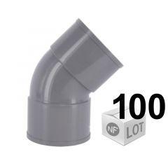 Lot de 100 raccords PVC - Coudes à 45° FF - Ø32 ou Ø40