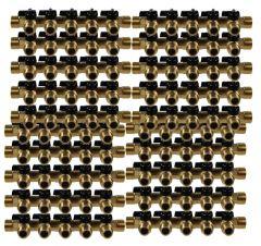 """Lot de 20 Collecteurs mini-vanne M/F 3/4"""" (20/27) - 1/2"""" (15/21)  - 5 piquages M 1/2"""" (15/21)"""