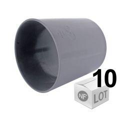 Lot de raccord PVC - 10 manchons lisses Ø100  Femelle Femelle FIRST-PLAST