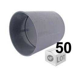 Lot de 50 raccords PVC - Manchons à butée Ø50 Femelle Femelle Fisrt Plast pour évacuation