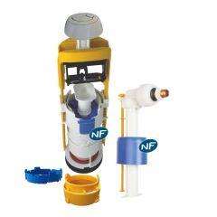 Mécanisme universel MECADOR double débit + robinet flotteur - Regiplast