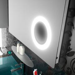 Miroir de salle de bain Moscow avec lumière LED - zone grossissant et sensor - Salgar