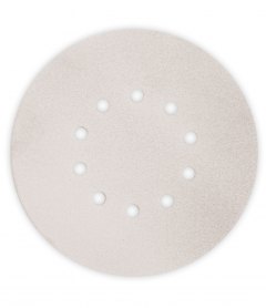 Paquet de 12 abrasifs argent perforés MOUSSFLEX Ø225 mm - grain 40 -  pour Giraffe - Flex