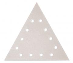 Paquet de 12 abrasifs triangle argent perforés MOUSSFLEX - grain 60 - pour Giraffe - Flex